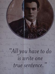 Hemingway poster.