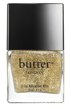 Now trending: Glittery gold nails