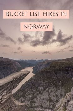 A travel guide to some of the best hikes in Norway including Preikestolen, Trolltunga and a few other unknown yet beautiful hikes! Hiking Norway, Norway Travel Guide, Hiking Europe, World Travel Guide, Travel Europe, Trondheim, Lofoten, Oslo, Cool Places To Visit