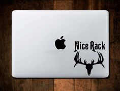 Deer Hunter Nice Rack Decal #2_264 MacBook Decal,Vinyl,Car Decal, Window Decal, ipad decal, laptop decal, Deer Hunter Decal, Hunting Decal by NebraskaVinyl on Etsy