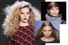 One of my fave things to report on: upcoming hair trends.  These are some of falls.  #nyfw