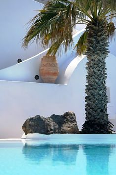 whitewashed walls palm trees and water...3 of my favorite things.