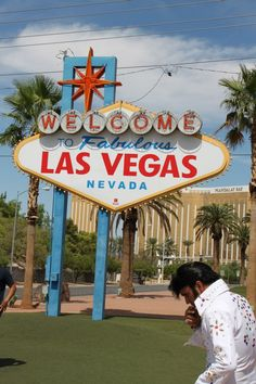 Elvis at Las Vegas Sign