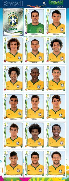 Equipo - Brasil - Mundial Brasil 2014