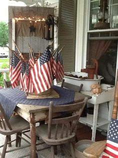 Shabby Patriotic Porch...
