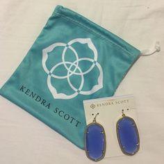 Kendra Scott Blue Earrings Never been worn, brand new blue Kendra Scott earrings! Kendra Scott Jewelry Earrings