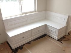 Image result for cornery entry built in bench