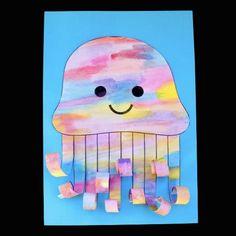 Watercolour Jellyfish – Make Film Play Art Activities For Kids, Preschool Themes, Kids Crafts, Summer Crafts, Classroom Activities, Preschool Crafts, Summer Fun, Watercolor Jellyfish, Jellyfish Art
