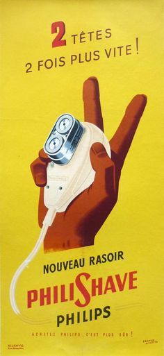 Philips Philishave - by Francis Gilletta - 1950