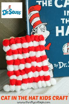 Dr Seuss Cat In The Hat Activities You Will LoveToday we have some fantastic Dr Seuss Cat In The Hat Activities for kids. There are some fun Dr Seuss inspired educational ideas, counting, maths and . Toddler Preschool, Preschool Activities, Craft Stick Crafts, Fun Crafts, Dr Seuss Crafts, Dr Seuss Week, Party Treats, Easy Crafts For Kids, Nature Crafts