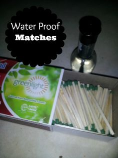 How to Waterproof Your Matches