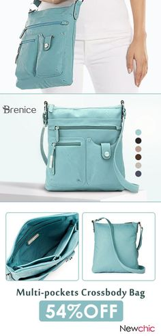 a930a200855 Brenice Women Faux Leather Multi-pockets Shoulder Bag Crossbody Bag is  designer, see other cute bags on NewChic.