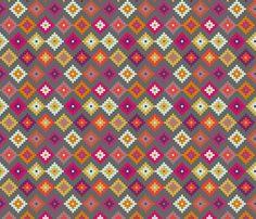Bold Moroccan Diamonds SMALL fabric by mrshervi on Spoonflower - custom fabric