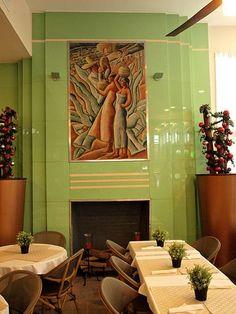 ideas for miami art deco interior modern Motif Art Deco, Art Deco Decor, Art Deco Home, Art Deco Era, Art Deco Design, Decoration, Design Design, Miami Art Deco, Art Deco Fireplace