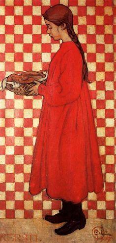 Carl Larsson - Kersti With A Breadbasket Catalog