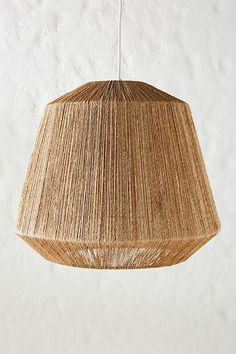 Manhattan Pendant by Anthropologie in Brown, Lighting Rattan Light Fixture, Rattan Lamp, Boho Lighting, Basket Lighting, Natural Lamps, Natural Living, Black Pendant Light, Electrical Outlets, Lamp Shades