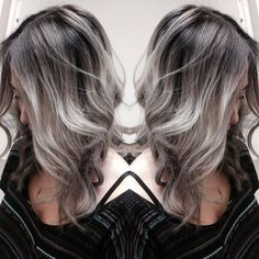 Ash brown with silver hair style Grey Hair Don't Care, Hair Color And Cut, Color Melting, Hair Affair, Hair Day, Pretty Hairstyles, Latest Hairstyles, Dyed Hair, Blond
