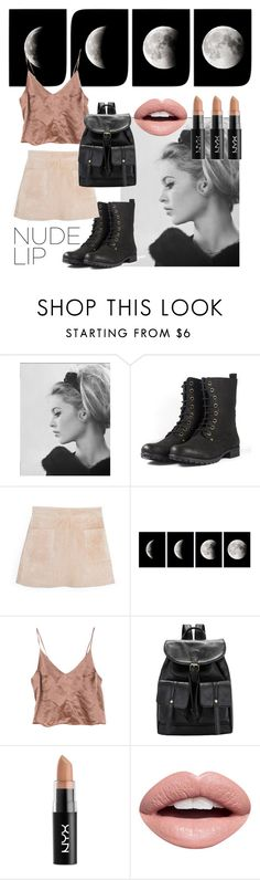 """""""Untitled #122"""" by stiilmedstudi ❤ liked on Polyvore featuring beauty, Brigitte Bardot, MANGO, WALL, NYX and Nevermind"""