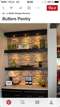 Maybe Do The Coffee Bar Area Like This. Open ShelvingBasement  ShelvingShelving IdeasBuilt In Wall ...