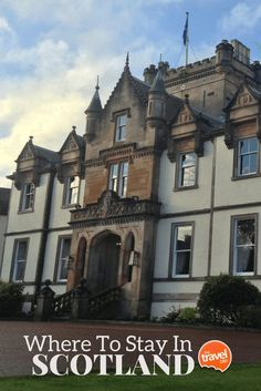 Recommendations for where to stay in Scotland, from Edinburgh to the highlands. From travel and food expert Rachelle Lucas of TheTravelBite.com. ~ http://thetravelbite.com