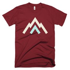 Aiguille |noun| a sharp-pointed pinnacle of rock This is a classic tee that has a light feel. Made of 100% ringspun cotton.  100% supersoft, ringspun cotton Waterbased, ecofriendly inks Manufactured and printed in the USA   For a more contoured fit you may want to order a size down