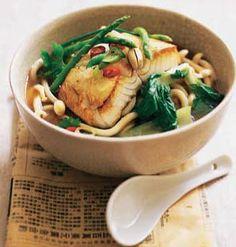 Bacalao con caldo de miso #recipes #cuisine