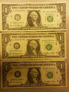 One dollar bills, One error note and Two star notes, NY - http://coins.goshoppins.com/us-paper-money/one-dollar-bills-one-error-note-and-two-star-notes-ny/