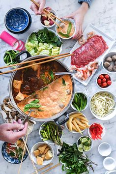 Frugal Food Items - How To Prepare Dinner And Luxuriate In Delightful Meals Without Having Shelling Out A Fortune Easy Asian Hot Pot Recipe Asian Hot Pot Recipe, Wok, Brunch, Asian Recipes, Hot Pot Recipes, Fondue Recipes, Asian Cooking, Aesthetic Food, Slimming World