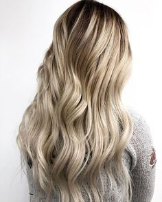 Get this look by painting the root with & on 1 inch regrowth with & on her zone 2 blend, both used with 13 vol. blonde and toned with with 6 vol gel Light Blonde Hair, Long Hair Styles, Painting, Beauty, Beleza, Long Hair Hairdos, Painting Art, Paintings, Cosmetology