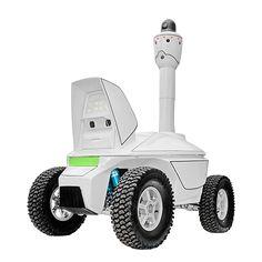 Outdoor panoramic surveillance robot