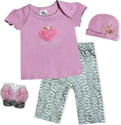Cutie Damask 4 Piece Set