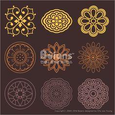 꽃과 식물 문양 패턴. 한국 전통문양 패턴디자인. (BPTD020196) Flower and Plant Pattern Design. Korean traditional Pattern is a Pattern Design. Copyrightⓒ2000-2014 Boians.com designed by Cho Joo Young.:
