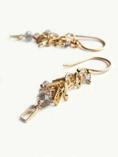 Del Mar Earrings with Faceted Labradorite and by FlowDesigns