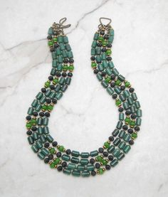 Statement Necklace.Chunky Necklace.Multi Strand Necklace.Statement Bib.Bold Necklace.Boho Necklace.Bohemian Necklace.Gift for Her. TROPIC
