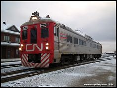 CN Track Evaluation Budd Car 1501 rolls out of Cochrane Yard for the 186 mile journey north to Moosonee November 7th
