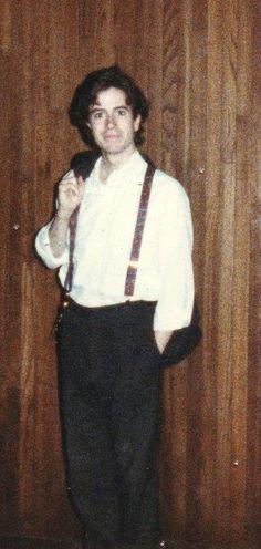 Stephen Colbert in college! Omg great suspenders!