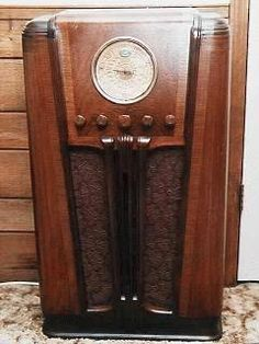 Vintage 1940s Philco Floor Radio Case Art Deco Pc Case