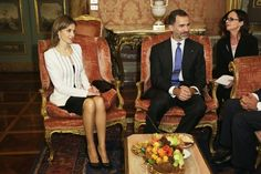 Queens & Princesses - King Felipe and Letizia Queen made an official visit to Italy where they met with representatives of various institutions.