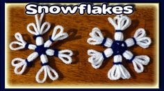 Learn how to make awesome snowflakes on a knitting loom. They are easy to make and you can make them in just a few minutes. These snowfla...