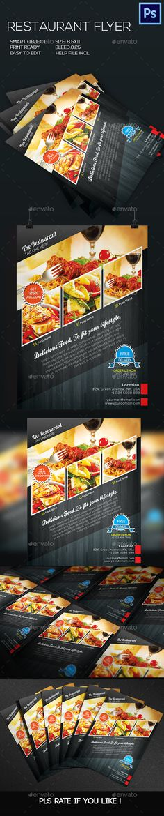 Restaurant Food Flyer Template #design Download: http://graphicriver.net/item/restaurant-food-flyer/8798366?ref=ksioks