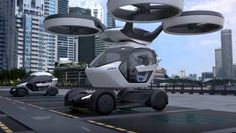 The Airbus Drone - Car 8/7/17 Airbus just announced a new conceptual car, drone, and a train all in one