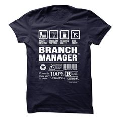 BRANCH MANAGER Multi Tasking Problem Solving T-Shirts, Hoodies. GET IT ==► https://www.sunfrog.com/No-Category/BRANCH-MANAGER--Multi-tasking.html?id=41382