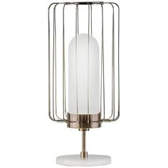 1481 best table lamps images on pinterest brown table lamps bulb nova watson weathered brass caged shade table lamp aloadofball Images