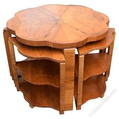 art deco walnut quintetto nest of tables antiques atlas art deco mobel jugendstildekor