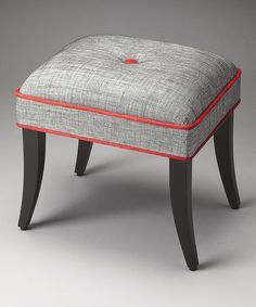 Loving this Red & Gray Vanity Stool on #zulily! #zulilyfinds