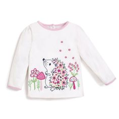 Take a look at this White Hedgehog Top - Infant, Toddler & Girls today! Toddler Girl Outfits, Kids Outfits, Toddler Girls, Cute Babies, Baby Kids, Baby Baby, Casual Chic Style, Color Pop, Graphic Sweatshirt
