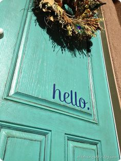 All Things Thrifty: Front door awesomeness