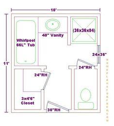 bathroom 9x8 layout plans - bing images | bathroom design