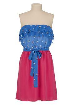 Chiffon Sailboat Print Tube Dress available at #Maurices