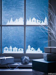 Une déco de Noël à faire soi-même originale (par x4duros) Plus d'idées déco sur le blog